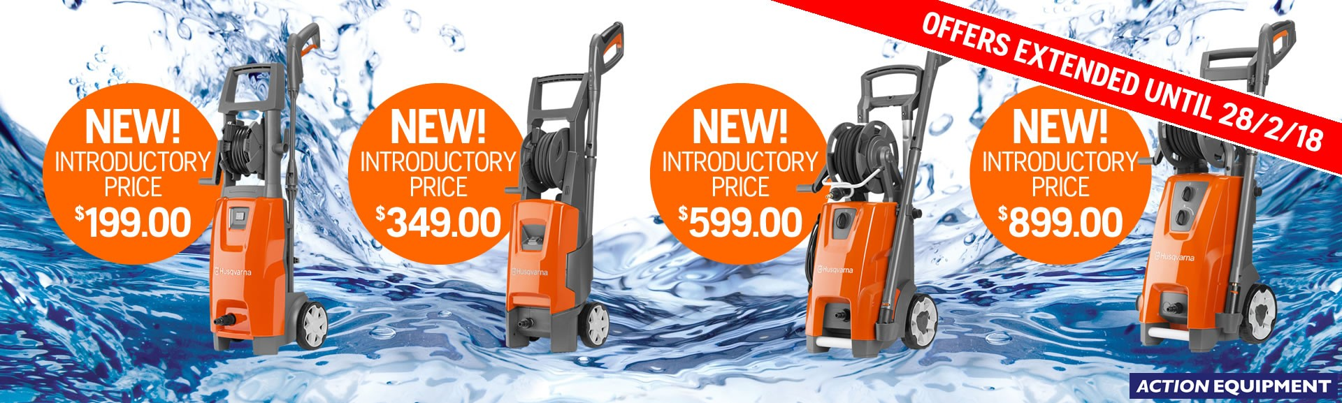NEW! Electric pressure washers from Husqvarna