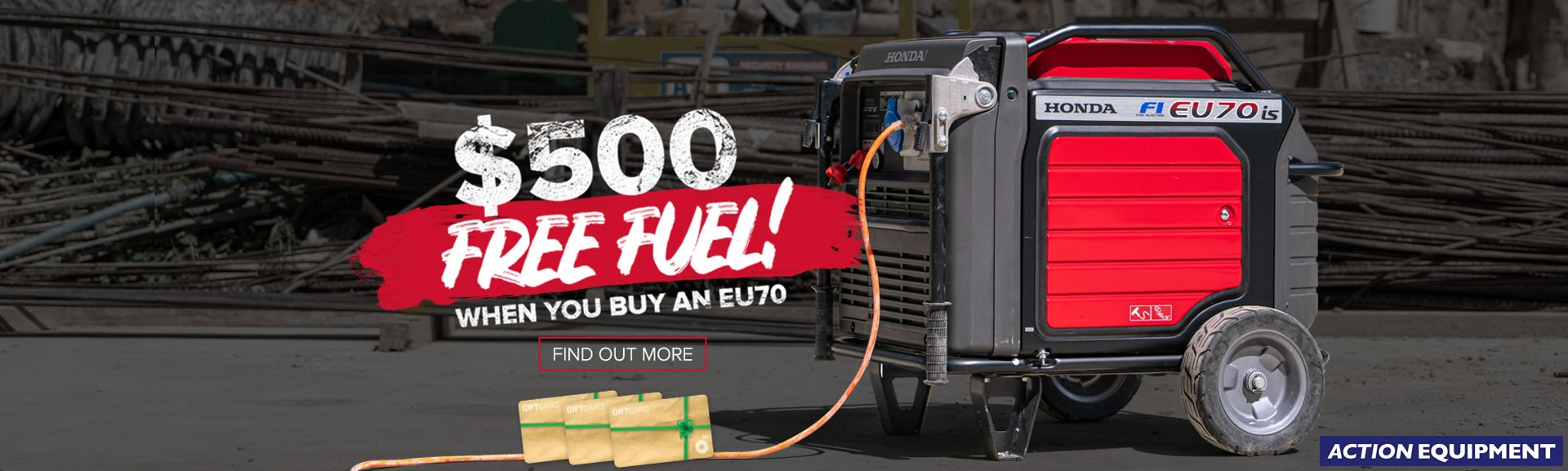 Free fuel with Honda EU70is inverter