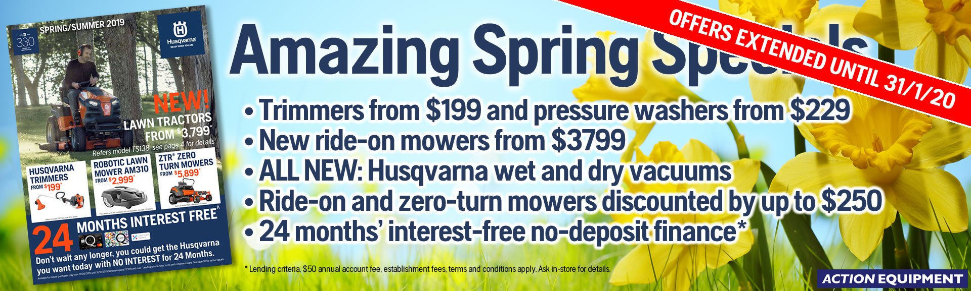 Husqvarna Spring/Summer Deals 2019-2020