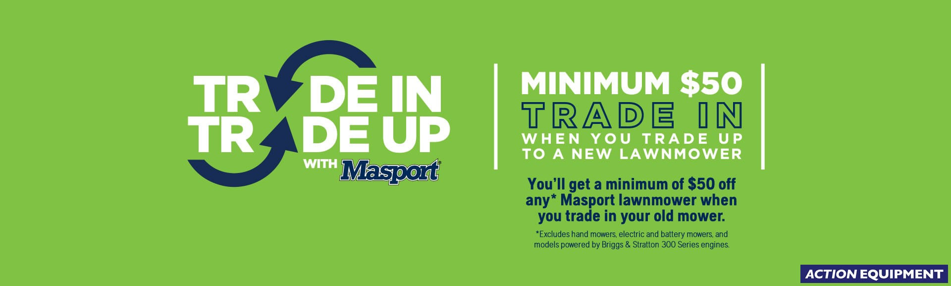 Masport Trade In Trade Up Promotion