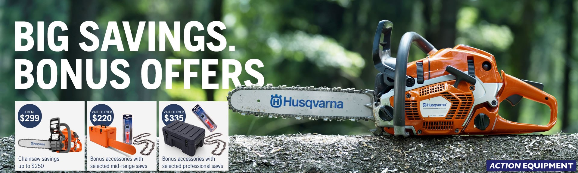 Husqvarna chainsaw offers