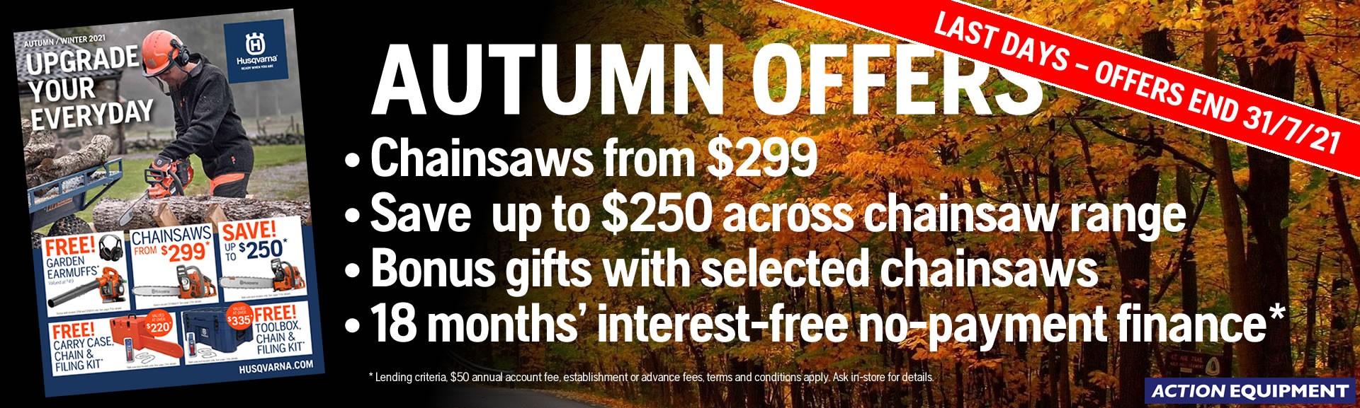 Husqvarna Autumn Savings 2021