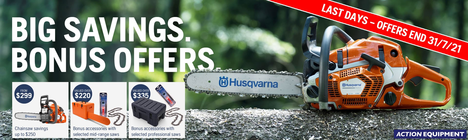 Husqvarna chainsaw offers